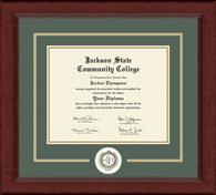 Jackson State Community College Diploma Frame - Lasting Memories Circle logo Diploma Frame in Sierra
