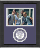 Amherst College Photo Frame - Lasting Memories Circle Logo Photo Frame in Arena