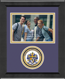Sigma Alpha Epsilon Photo Frame - 4' x 6' - Lasting Memories Circle Logo Photo Frame in Arena