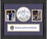 Sigma Alpha Epsilon Photo Frame - Lasting Memories Banner Collage Photo Frame in Arena