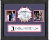 Sigma Phi Epsilon Photo Frame - Lasting Memories Banner Collage Photo Frame in Arena