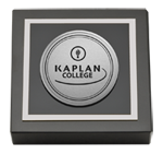 Kaplan College Paperweight - Silver Engraved Medallion Paperweight