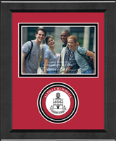 Alpha Chi Omega Photo Frame - 4'x6' - Lasting Memories Circle Logo Seal Photo Frame in Arena