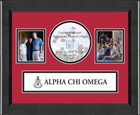 Alpha Chi Omega Photo Frame - Lasting Memories Banner Collage Photo Frame in Arena