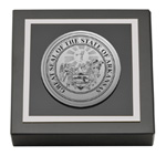 State of Arkansas Paperweight - Silver Engraved Medallion Paperweight