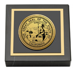 State of California Paperweight - Gold Engraved Medallion Paperweight