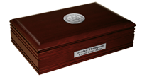 State of Delaware Desk Box - Silver Engraved Medallion Desk Box