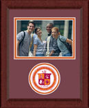 Virginia Polytechnic Institute and State University Photo Frame - Lasting Memories Circle Logo Photo Frame in Sierra