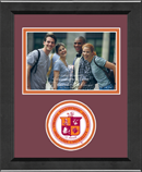 Virginia Polytechnic Institute and State University Photo Frame - Lasting Memories Circle Logo Photo Frame in Arena