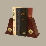 Pi Kappa Alpha Bookends - Gold Engraved Medallion Bookends
