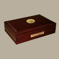 Pi Kappa Alpha Desk Box - Gold Engraved Medallion Desk Box
