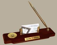 Pi Kappa Alpha Desk Pen Set - Gold Engraved Medallion Desk Pen Set