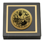 State of Florida Paperweight - Gold Engraved Medallion Paperweight