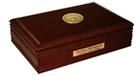 State of Georgia Desk Box - Gold Engraved Medallion Desk Box