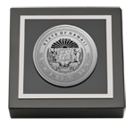 State of Hawaii Paperweight - Silver Engraved Medallion Paperweight