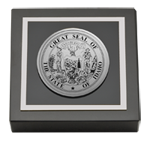 State of Idaho Paperweight - Silver Engraved Medallion Paperweight