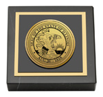 State of Illinois Paperweight - Gold Engraved Medallion Paperweight