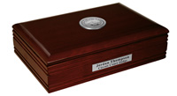 State of Kansas Desk Box - Silver Engraved Medallion Desk Box