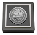State of Kansas Paperweight - Silver Engraved Medallion Paperweight