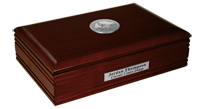 District of Columbia Desk Box - Silver Engraved Medallion Desk Box