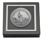 District of Columbia Paperweight - Silver Engraved Medallion Paperweight