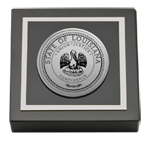 State of Louisiana Paperweight - Silver Engraved Medallion Paperweight