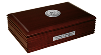 State of Michigan Desk Box - Silver Engraved Medallion Desk Box