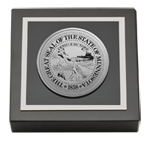 State of Minnesota Paperweight - Silver Engraved Medallion Paperweight
