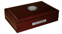State of Mississippi Desk Box - Silver Engraved Medallion Desk Box