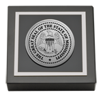 State of Mississippi Paperweight - Silver Engraved Medallion Paperweight