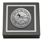 State of Montana Paperweight - Silver Engraved Medallion Paperweight
