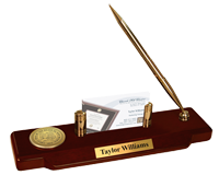 State of New Mexico Desk Pen Set - Gold Engraved Medallion Desk Pen Set