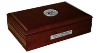 State of Nevada Desk Box - Silver Engraved Medallion Desk Box
