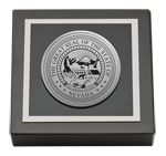 State of Nevada Paperweight - Silver Engraved Medallion Paperweight