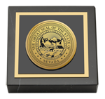 State of Nevada Paperweight - Gold Engraved Medallion Paperweight