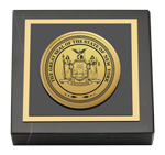 State of New York Paperweight - Gold Engraved Medallion Paperweight