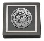 State of Ohio Paperweight - Silver Engraved Medallion Paperweight