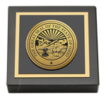 State of Ohio Paperweight - Gold Engraved Medallion Paperweight