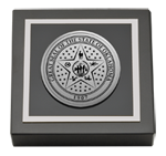 State of Oklahoma Paperweight - Silver Engraved Medallion Paperweight