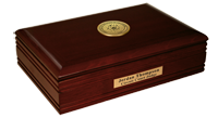 State of Oklahoma Desk Box - Gold Engraved Medallion Desk Box