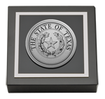 State of Texas Paperweight - Silver Engraved Medallion Paperweight