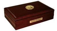 State of Wyoming Desk Box - Gold Engraved Medallion Desk Box