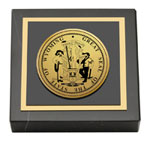 State of Wyoming Paperweight - Gold Engraved Medallion Paperweight