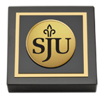 Saint Joseph's University in Pennsylvania Paperweight - Gold Engraved Medallion Paperweight