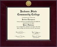 Jackson State Community College Diploma Frame - Century Gold Engraved Diploma Frame in Cordova