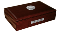 State of Rhode Island Desk Box - Silver Engraved Medallion Desk Box