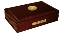 State of Rhode Island Desk Box - Gold Engraved Medallion Desk Box