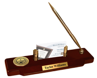 Valdosta State University Desk Pen Set - Gold Engraved Medallion Desk Pen Set