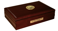 Valdosta State University Desk Box - Gold Engraved Medallion Desk Box