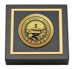 Valdosta State University Paperweight - Gold Engraved Medallion Paperweight